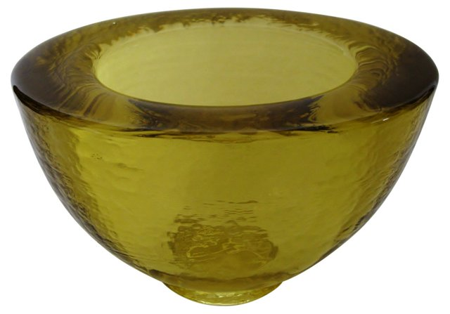 Pale Chartreuse Glass Bowl