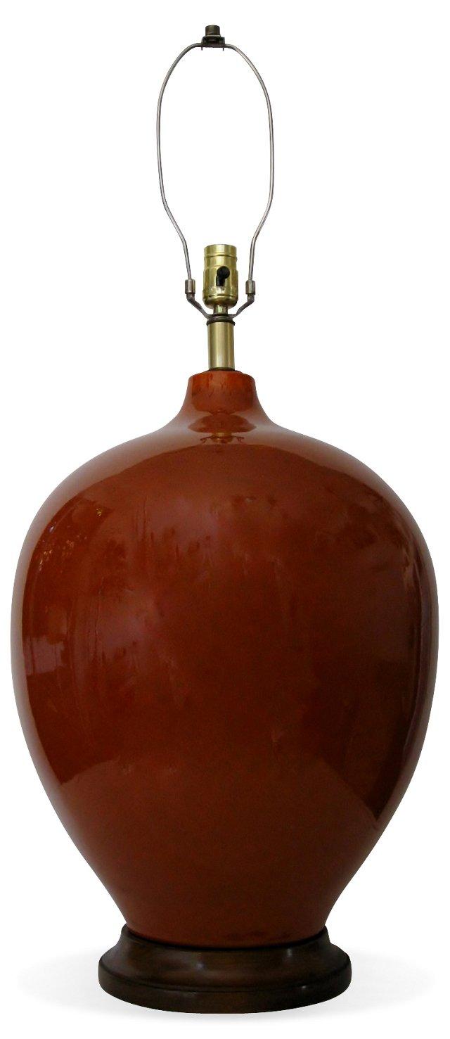 Burnt Orange  Ceramic Lamp