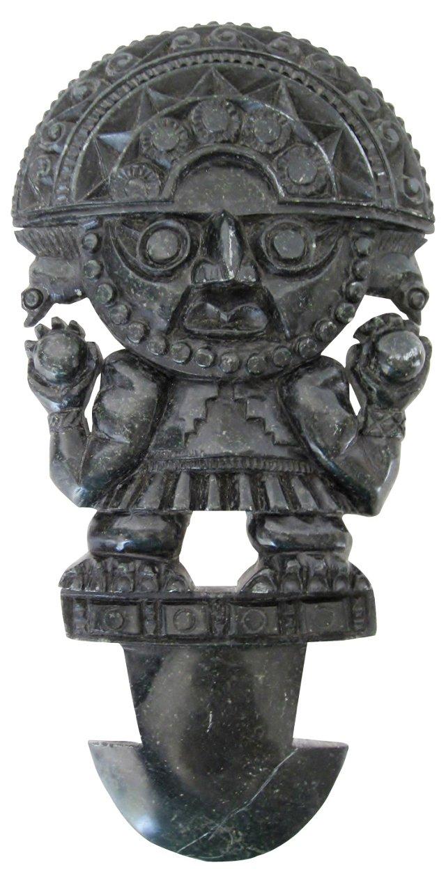 Carved Black Stone Objet