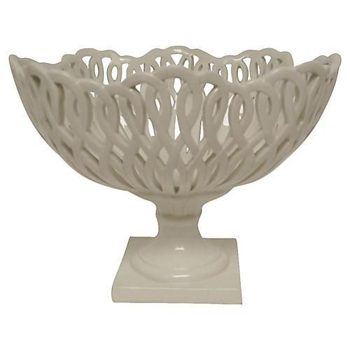 Italian Ceramic Pedestal Bowl