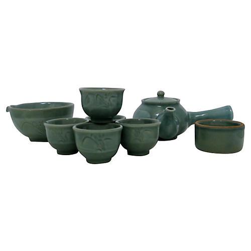Celadon Tea Set, Service for 5