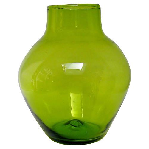 Blenko Green Glass Vase