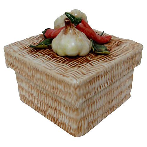 Italian Ceramic Lidded Box