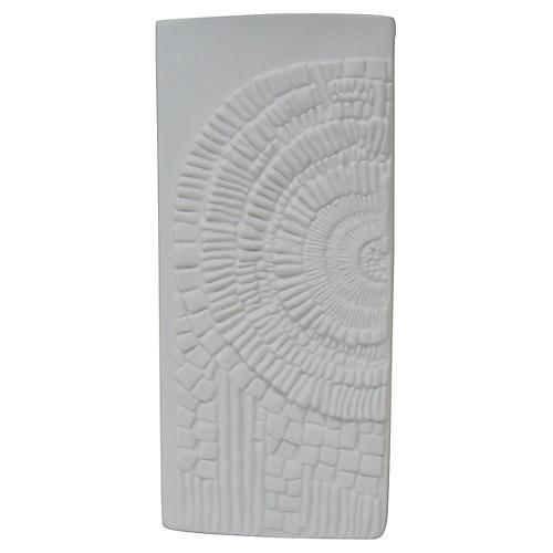 Bavarian White Bisque Fossil Vase
