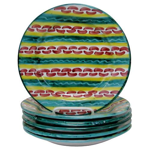 Italian Salad Plates, Set of 6
