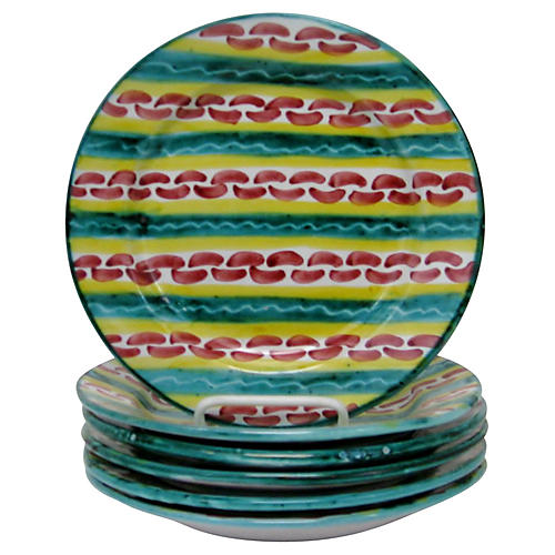 Italian Salad Plates, Set of 6