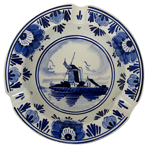 Delft Porcelain Ashtray