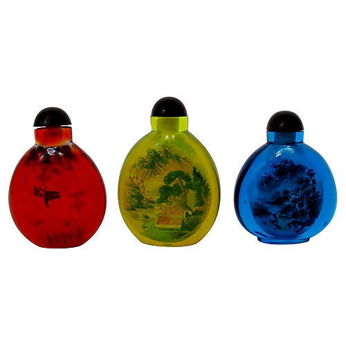 Chinese Snuff Bottles, Set of 3