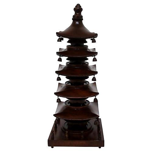Carved Wood Pagoda