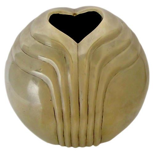 Art Deco-Style Brass Vase