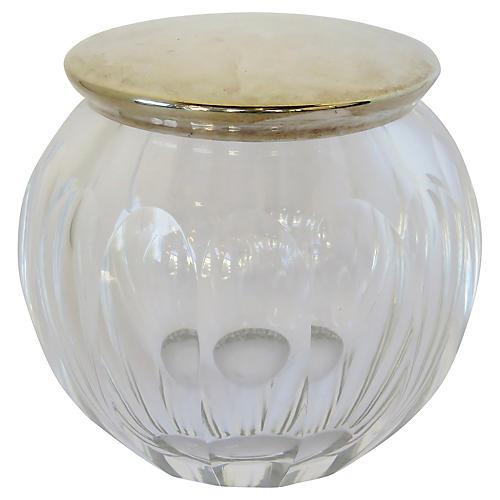 Plata Lappas Crystal & Silver Jar
