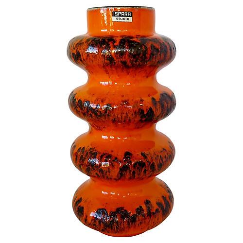 Spara Keramik Orange Vase