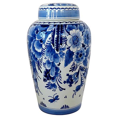 Delft Porcelain Tea Caddy