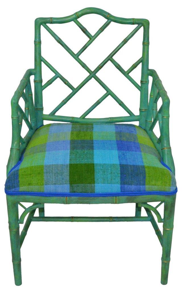 Faux-Bamboo Fretwork   Chair