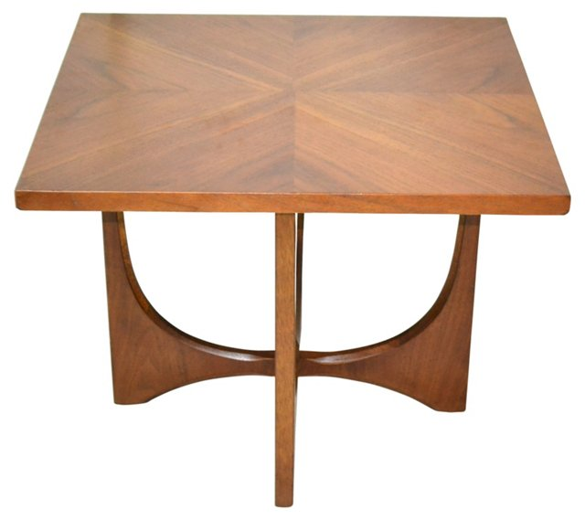Mid-Century Modern Walnut Accent Table