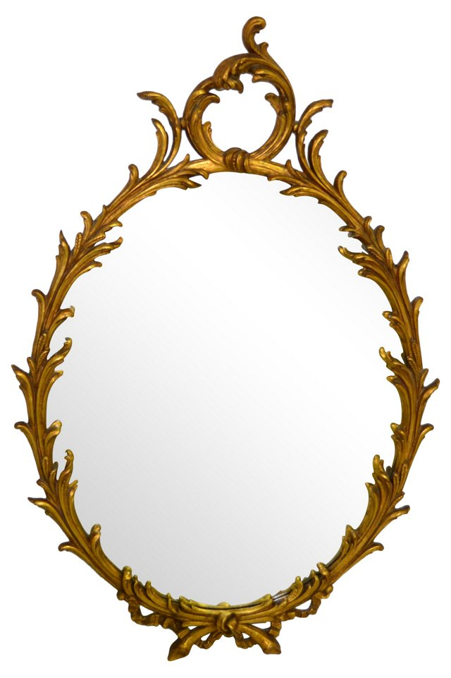 French Acanthus Gilt Mirror