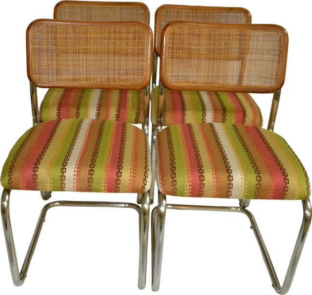 1950s Chrome Chairs, Set of 4
