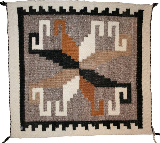 "Navajo Rug, 1'3"" x 1'3"""