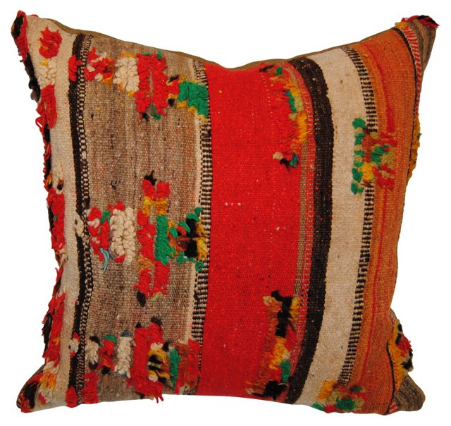 Moroccan Pillow w/ Tufts