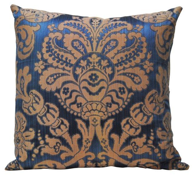 Pillow w/ Antique Blue Italian Silk