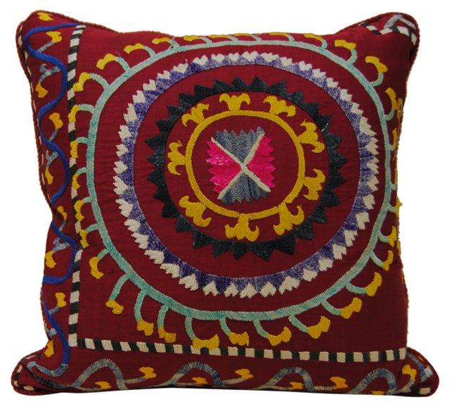 Uzbek Embroidered Pillow