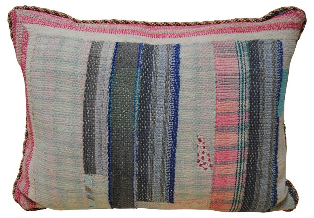 Patchwork   Kantha Quilt Pillow