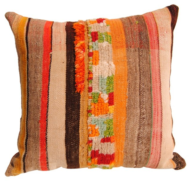Moroccan Wool Pillow w/ Tufts