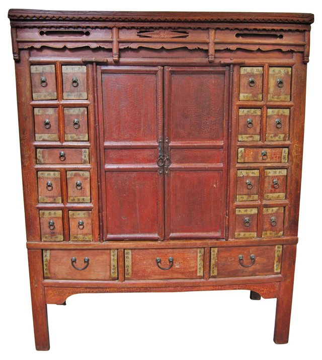 Antique Chinese Apothecary Armoire