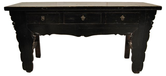 Antique Black Chinese Sideboard