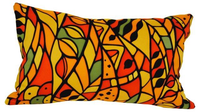 Orange Silk Kimono Pillow