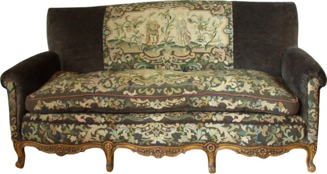 Antique French Needlepoint Sofa