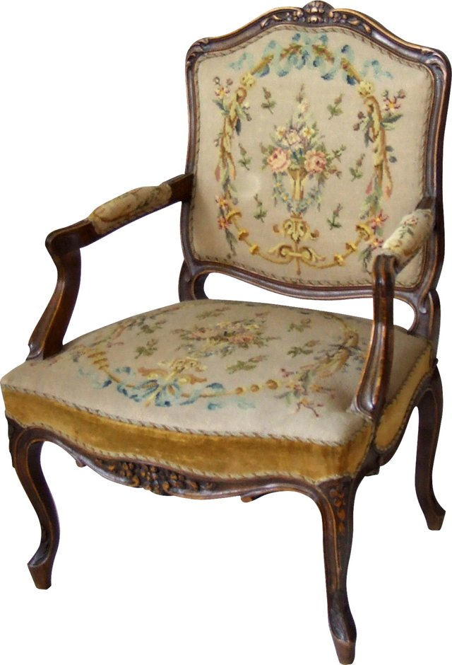 Danish Needlepoint Armchair