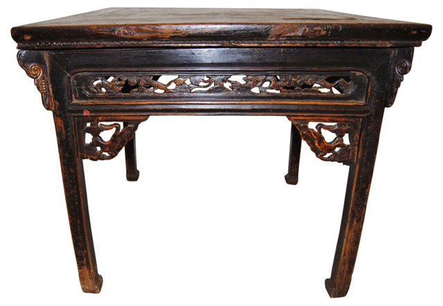 18th-C. Chinese 8-Horse Square Table