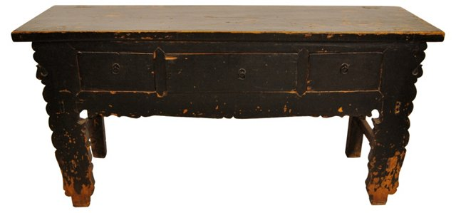 Chinese Scalloped Sideboard, C. 1910