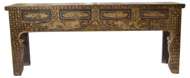 Antique Chinese Dragon Motif Sideboard