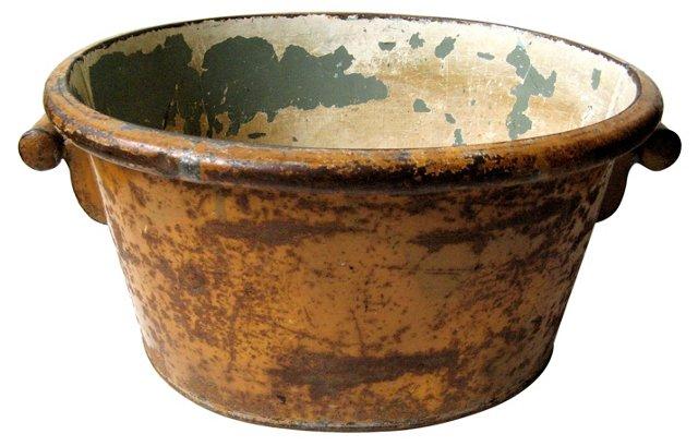 Antique English Metal Tub