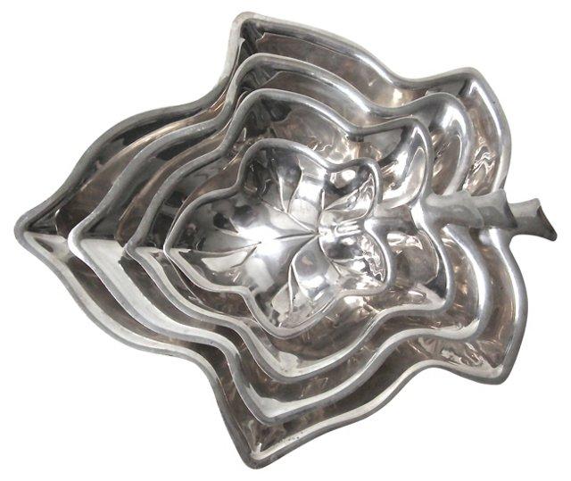 Silverplate Nesting Bowls, S/4