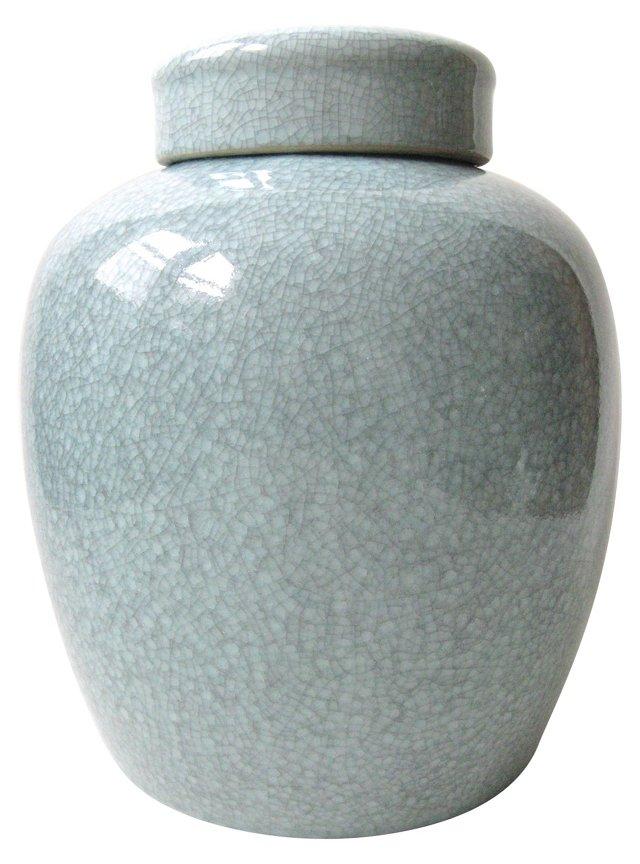 Celadon Crackle Jar