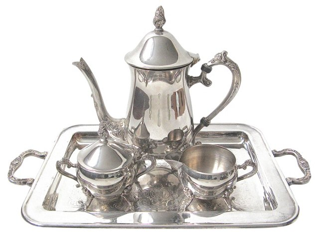 American Silverplate Tea Set, 4 Pcs