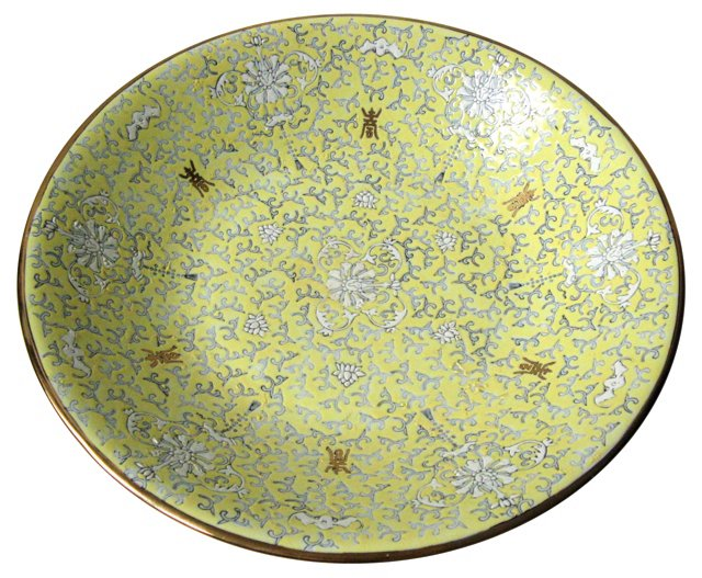 Famille Jaune Serving Bowl
