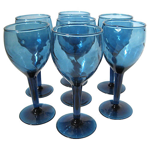 Blue Stem Glasses, S/7