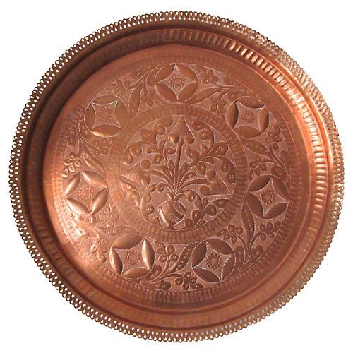Repoussé Copper Tray