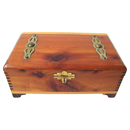Art Deco Cedar Box