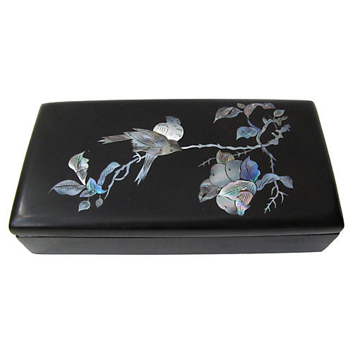 Mother-of Pearl Inlay Lacquer Bird Box