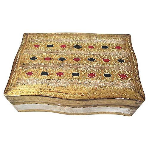 Gilt Florentine Card Box