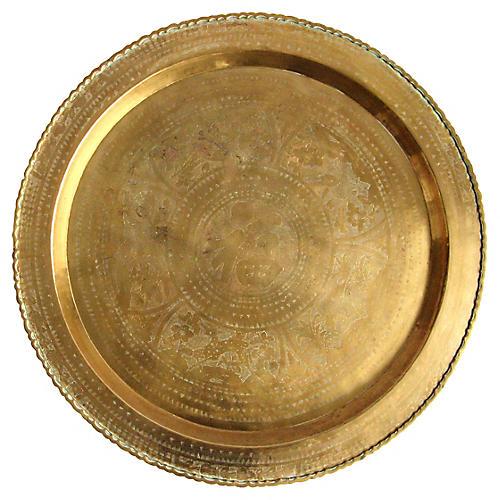 Brass Chinese Motif Tray