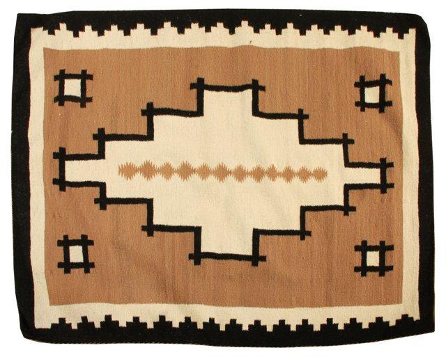 "Navajo Rug, 3'9"" x 3'2"""