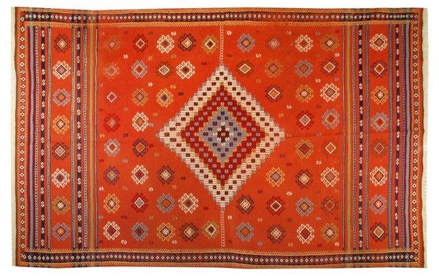 "Moroccan Kilim, 8' x 4'9"""