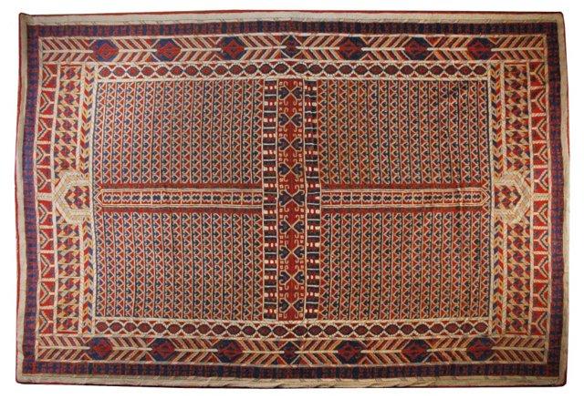Indian Needlepoint Rug, 6' x 10'
