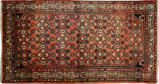 "Antique Herati Carpet, 3'3"" x 5'1"""